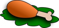farmeral,food,icon,chicken,leg,lettuce,color,media,clip art,public domain,image,png,svg