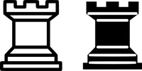 chess,piece,rook,game,icon,black,white,media,clip art,externalsource,public domain,image,png,svg