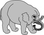 elephant,filled,animal,grey,gray,greyscale,media,clip art,public domain,image,png,svg