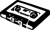 audio,cassette,old,perspective,sound,white,black,plastic,tape,music,lumen,recording,record,black & white,stencil