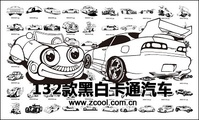 black,white,classic,cartoon,motor,vehicle,material