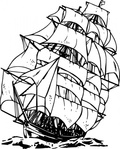 clipper,maritime,sailing,ship,sailship,drawing,line art,black and white,contour,outline,media,clip art,externalsource,public domain,image,png,svg,wikimedia common,psf,wikimedia common,wikimedia common,wikimedia common