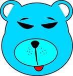 blue,bear,animal,simple,media,clip art,public domain,image,svg