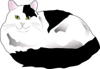 missiridia,black,white,fluffy,cat,feline,meow,purr,kitty,kitten,media,clip art,public domain,image,svg