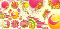 lovely,pink,flower,trend,round,material