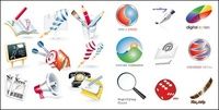 book,rocket,brush,target,small,blackboard,different,icon