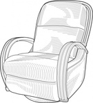 recliner,chair,how i did it,loungechair,lounge chair,swivelchair,swivel chair,lounger,armchair,black and white,technical drawing