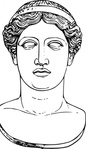 hera,head,ancient,greek,mythology,deity,goddess,statue,drawing,line art,juno,meyers,famous-people,media,clip art,externalsource,public domain,image,png,svg,wikimedia common,wikimedia common