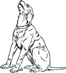 barking,media,clip art,externalsource,public domain,image,png,svg,animal,mammal,dog,sitting