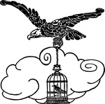 eagle,nightingale,animal,bird,cage,flying,media,clip art,externalsource,public domain,image,png,svg