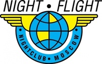 night,flight,logo