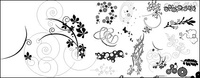 exquisite_flowers_vector_material_1155,fashion,pattern,element,material,type,ornament,star,butterfly,circle,leaf,flower,star,butterfly,circle,leaf,nature,swirl,floral,star,butterfly,circle,leaf