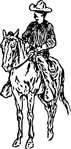 cowboy,horse,person,man,rider,media,clip art,externalsource,public domain,image,png,svg