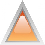triangular,orange,button,glossy,triangle