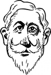 older,kaiser,wilhelm,cartoon,caricature,man,person,history,politics,germany,famous-people