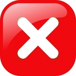 square,error,warning,button,icon,red,stop,negative,delete,cancel,glossy