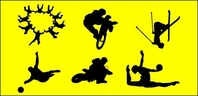 sport,figure,material,silhouette,people,_people,motocross,wakeboard,vollyball,motorcycle,skydive,racing,skiier,skiing,athlete,helmet,people silhouette