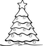 jean,victor,balin,sapin,xmas,nature,tree,conifer,garden,forest,christmas,black and white,outline,contour,colouring book,media,clip art,public domain,image,svg,png