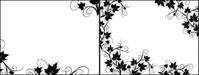 black,white,rattan,plant,lace,border