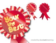 rosette,decoration,ribbon,red,motif,badge,medal,ribbon,motif,ribbon,motif