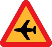 airplane,roadsign