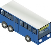 blue,isometric,bus,vehicle,city,media,clip art,public domain,image,png,svg