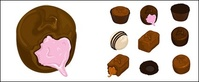 chocolate,vector,material