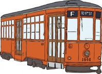 trolly,milan,streetcar,transit,train,transportation,public,san francisco