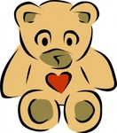 stylized,teddy,bear,heart