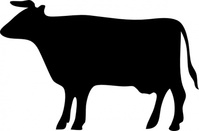 silhouette,animal,mammal,bovine,cow,black,black and white