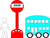 station,cartoon,bus,outline,line art,man,media,clip art,public domain,image,png,svg
