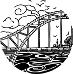 bridge,over,river,water,scene,media,clip art,externalsource,public domain,image,png,svg