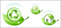 environmental,protection,theme,green,leaf,icon,material,concept