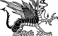 dragon,animal,fantasy,mythology,woodcut,media,clip art,externalsource,public domain,image,png,svg