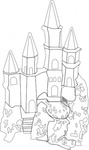 castle,outline,fantasy,building,media,clip art,public domain,image,png,svg