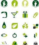 green,logo,design,element