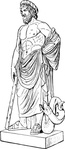 asklepios,statue,ancient,greek,art,mythology,health,sculpture,drawing,line art,nordisk familjebok,media,clip art,externalsource,public domain,image,png,svg,wikimedia common,wikimedia common,wikimedia common,wikimedia common