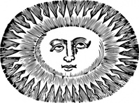 oval,sun,space,weather,black & white,contour,outline
