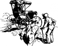 early,buggy,transportation,vehicle,car,historical,media,clip art,externalsource,public domain,image,png,svg