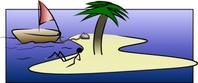 stick,laying,island,person,boat,relaxing,media,clip art,public domain,image,svg,png