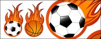 football,basketball,flame