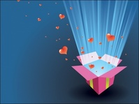 love,present,box,magic,card,lovely,heart,gift,open,opening,shiny,shine,glow,light,element,illustration