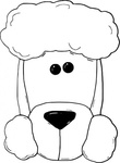 dogface3,outline,remix,animal,pet,dog,poodle,white,worldlabel