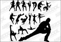 dance,ballet,people,silhouette,move,material