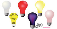 object,different,colour,light,bulb