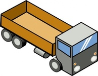 isometric,truck,clip