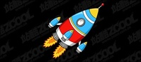 cartoon,style,rocket