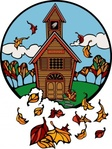 school,fall,cartoon,stained glass,building,autumn,education,season,externalsource