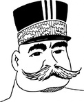 joseph,joffre,cartoon,caricature,man,person,french,france,military,general,history,famous-people,media,clip art,externalsource,public domain,image,svg