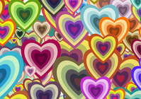 wallpaper,heart,colorful,decoration,art